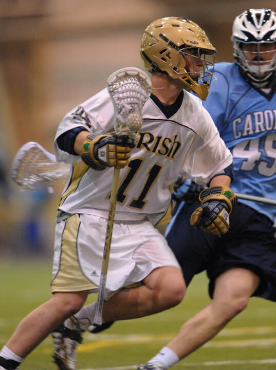 Neal Hicks and the Fighting Irish will open Arlotta Stadium against the Iroquois National Team on Friday, Oct. 16.