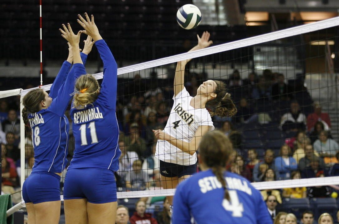 The first varsity action in the newly-renovated Purcell Pavilion at the Joyce Center saw the Irish post a 3-1 win over Seton Hall.