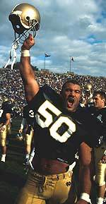 Hall of Famer Chris Zorich played a key role in Notre Dame's victory over #1 Miami on Oct. 15, 1988.