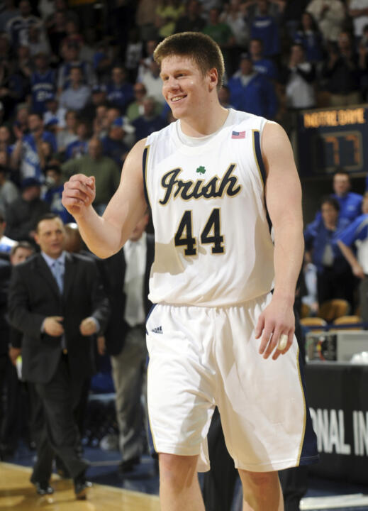 Luke Harangody and the Irish make it two wins in a row as they beat St. Francis, 95-72 on Monday night. (File Photo)