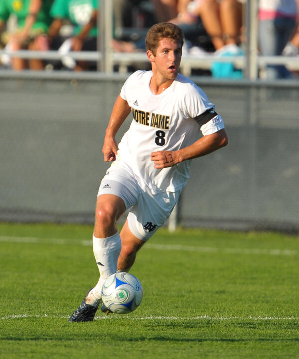 Senior midfielder Michael Thomas registered a goal and an assist in Notre Dame's 4-0 win over Louisville back on Sept. 25.