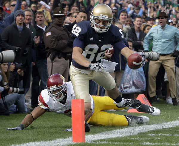 Today's game will mark the final in Notre Dame Stadium for senior WR Robbie Parris.