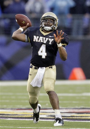 Navy quarterback Ricky Dobbs has missed time this year with a knee injury, but is just seven off the NCAA record for career touchdown runs by a quarterback.