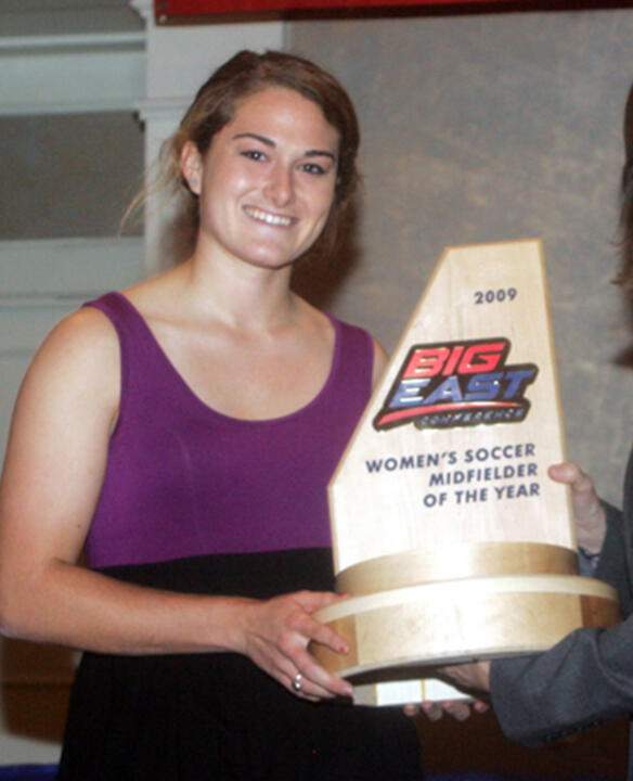 Courtney Barg was selected by the conference coaches as the 2009 BIG EAST Midfielder of the Year.