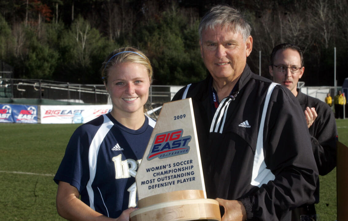 Sophomore defender Jessica Schuveiller was named the 2009 BIG EAST Tournament's Most Outstanding Defensive Player.
