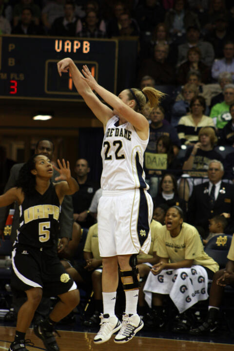 Junior guard Brittany Mallory scored a season-high 15 points, including 5-of-6 free throws in the final 43 seconds, as No. 5/6 Notre Dame downed No. 23/24 San Diego State, 84-79 on Thursday afternoon at the Paradise Jam in the U.S. Virgin Islands.