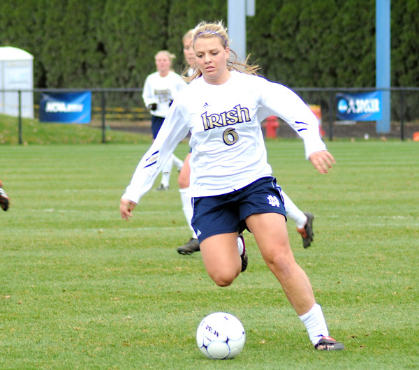 Melissa Henderson has scored six goals in Notre Dame's first two NCAA Championship matches.