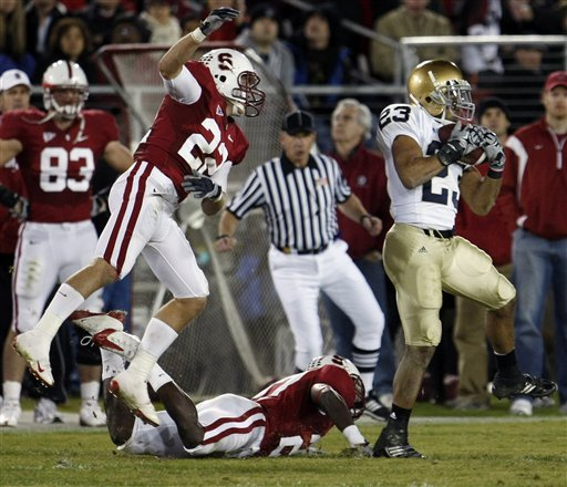 Golden Tate nabs one of his three touchdown passes from the Stanford game.