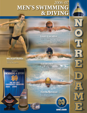 2006-07 Swimming & Diving Media Guide Cover