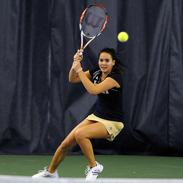 Kristy Frilling won both her singles and doubles matches Saturday against DePaul.