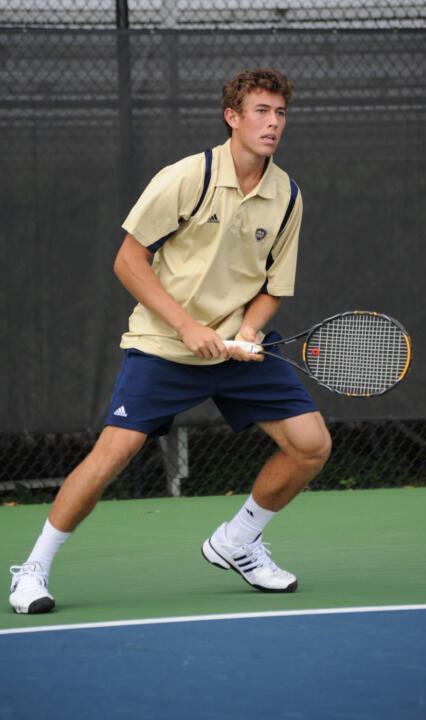 Freshman Blas Moros improved to 3-1 after defeating Tulsa's Grant Ive 6-2, 6-0 Saturday.