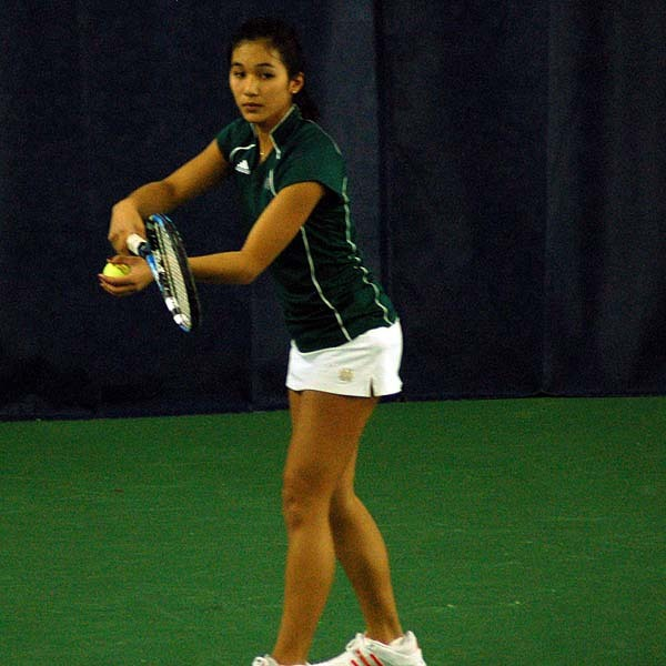 Junior Kristen Rafael clinched the win for the Irish with a victory at No. 5 singles.