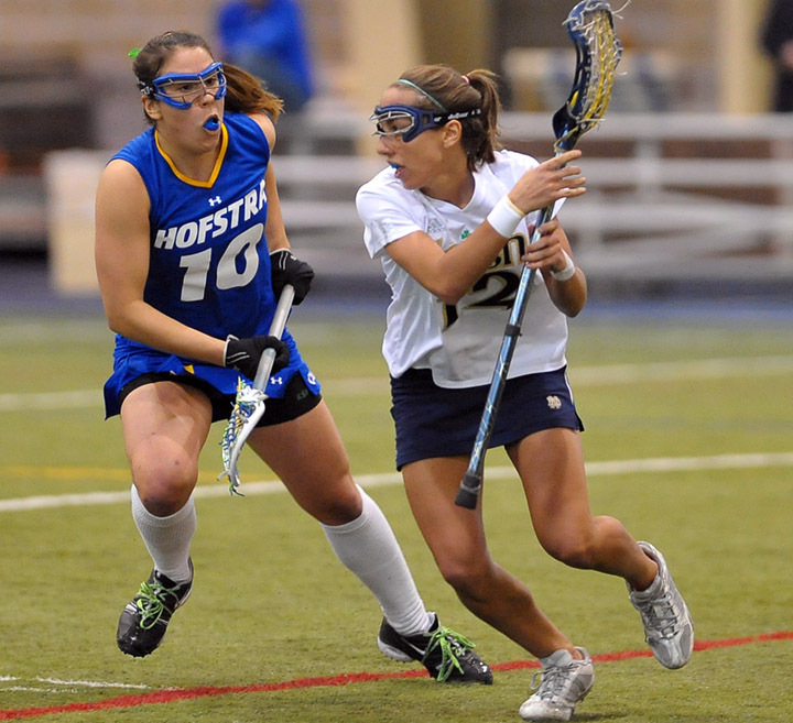 Senior Gina Scioscia got her 2010 season off to a strong start with three goals and an assist in the 13-12 win at Hofstra.