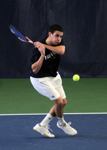 Against Michigan, Daniel Stahl won his match at No. 3 singles.
