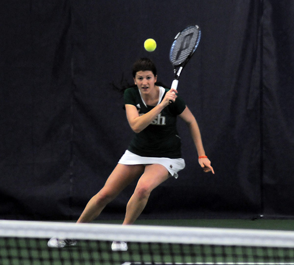 Senior Kali Krisik won both her singles and doubles matches against Ohio State.