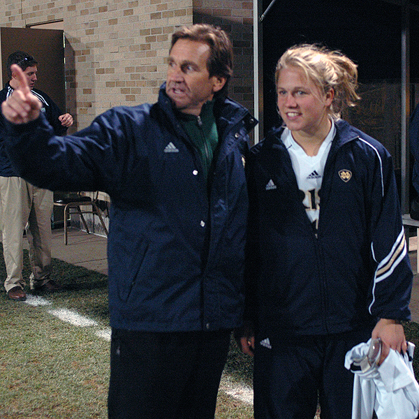 Notre Dame head coach Randy Waldrum and his staff invite you to be a part of the 2010 Fighting Irish Girls Soccer Camp!