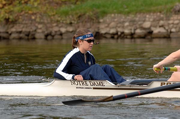 Sarah Keithley will lead the varsity eight boat into competition over the weekend for the Irish