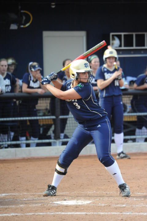 Heather Johnson had a solo home run for the Irish in a 2-1 loss to San Diego.