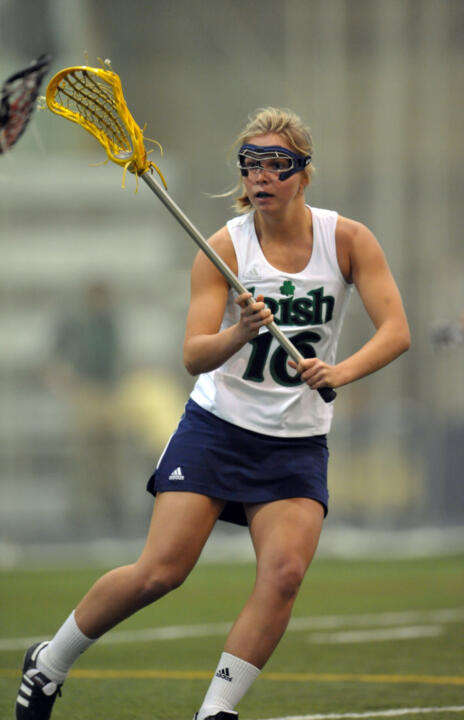 Sophomore midfielder Kate Newall scored her first collegiate goal in Notre Dame's 15-10 win over Duquesne.