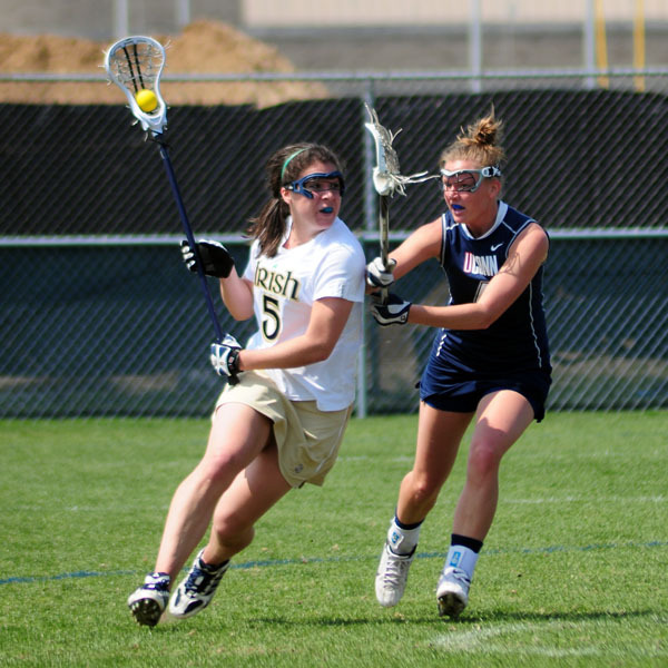 Junior Ansley Stewart got the overtime game winner with 1:34 left as the Irish downed California, 14-12, in overtime.