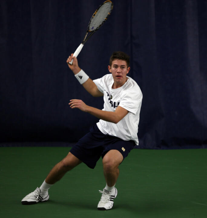 Blas Moros clinched the win for the Irish with a victory at No. 6 singles.