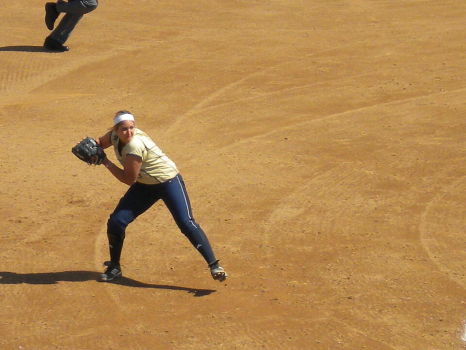 Heather Johnson went 3-for-3 with three RBI Sunday against Purdue.