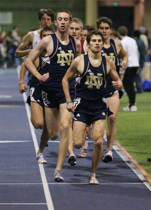 Jake Walker set an NCAA provisional qualifying mark Friday in the men's 5,000 meters.