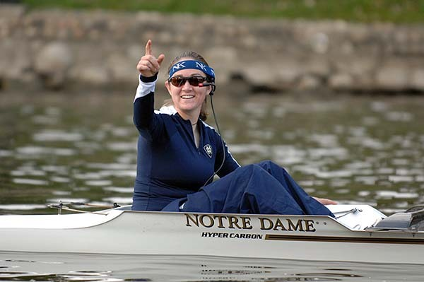 Sarah Keithley, coxswain of the Irish varsity eight boat, will serve as one of the Irish co-captains for postseason action.