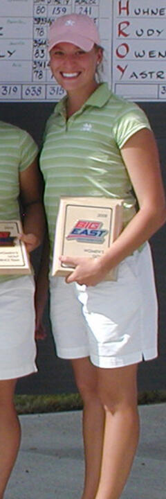 Annie Brophy took medalist honors at the 2008 BIG EAST Championship.