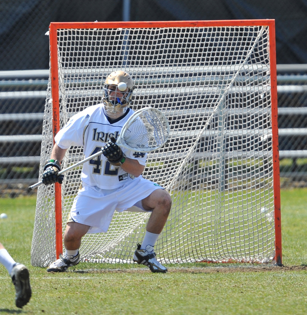 Senior goalie Scott Rodgers made 13 saves to move his record to 6-3 this season.