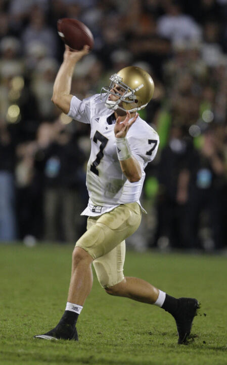 With Jimmy Clausen being selected in the 2010 NFL Draft, Notre Dame has now had at least one player drafted in 73 of 75 NFL Drafts.