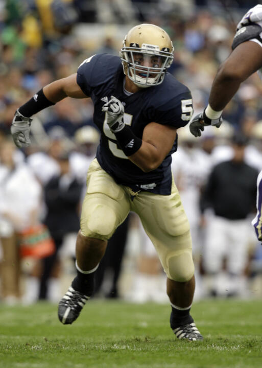 Manti Te'o ranked fourth on the Irish with 63 tackles last year and was the second-leading tackler on the team over the final eight games after becoming a full-time starter in the fifth game of the 2009 season.