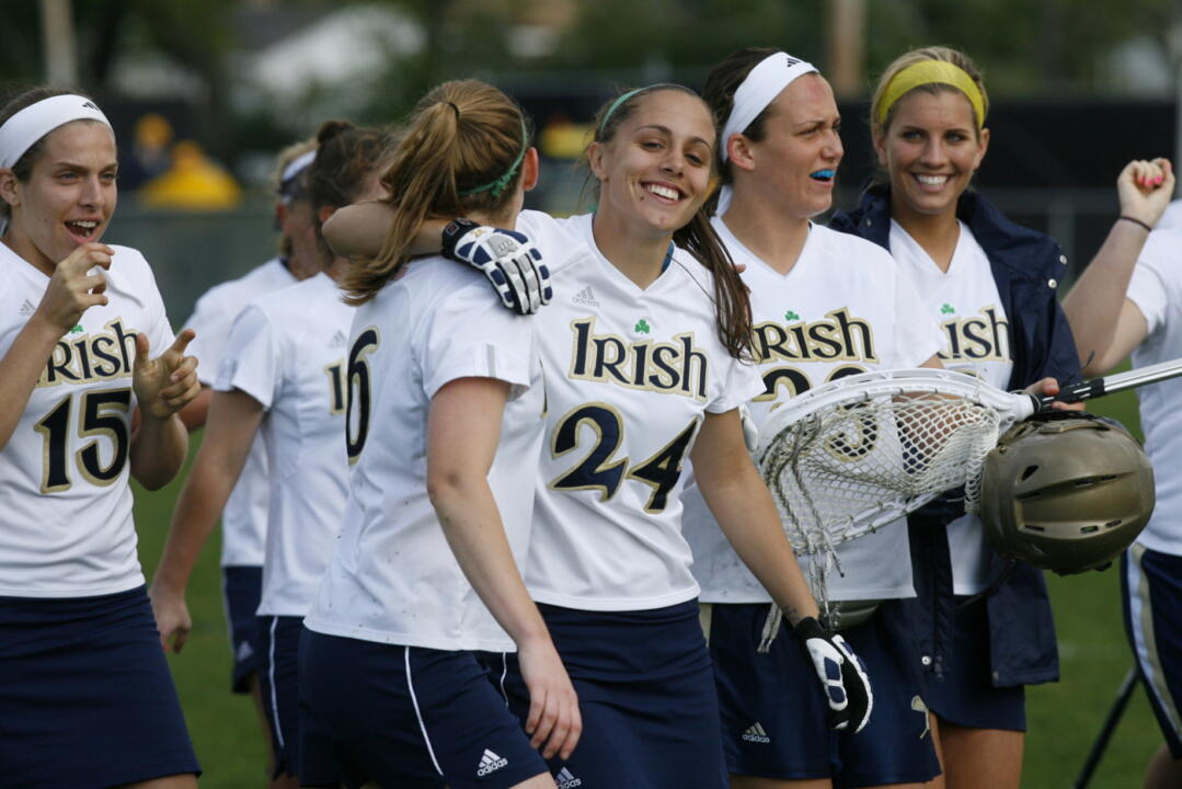 Sophomore Jordy Shoemaker scored the first two goals of her Notre Dame career in the 16-0 win over Villanova.