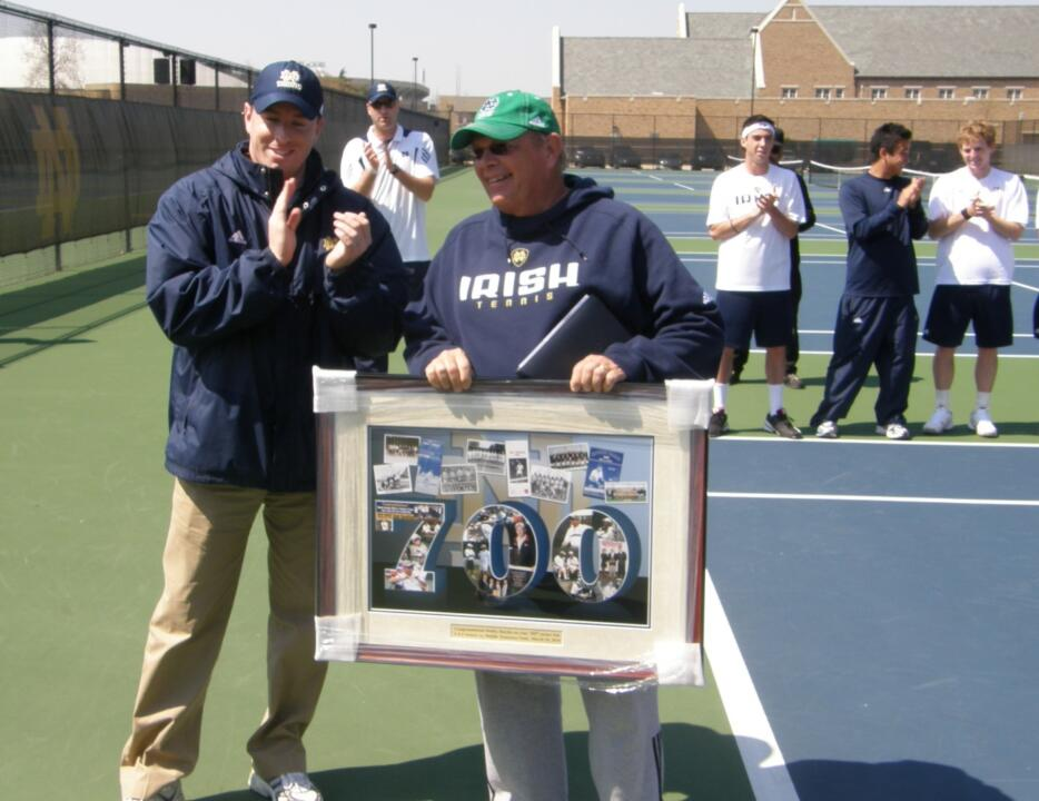 Bobby Bayliss was honored before the match for recently recording his 700th win as a head coach.