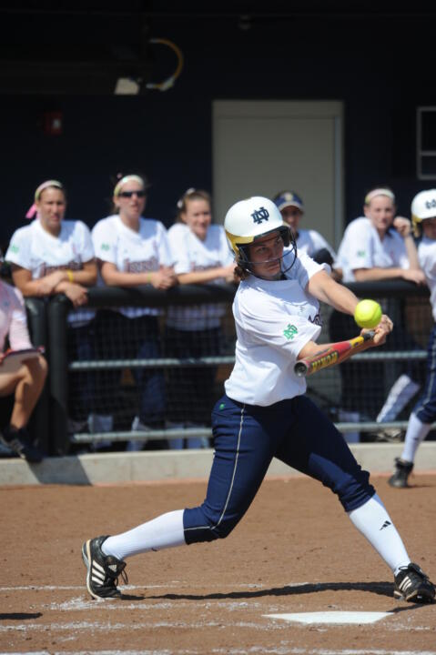 Dani Miller homered Wednesday in a sweep over Georgetown.