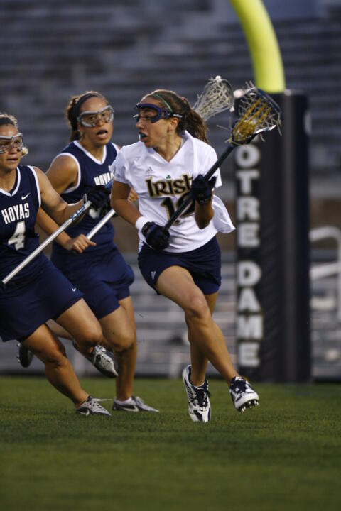 All-American candidate Gina Scioscia leads the Irish in scoring with 38 goals and 21 assists for 59 points.  Scioscia and her teammates face Northwestern in the first round of the NCAA Tournament on Sat., May 15