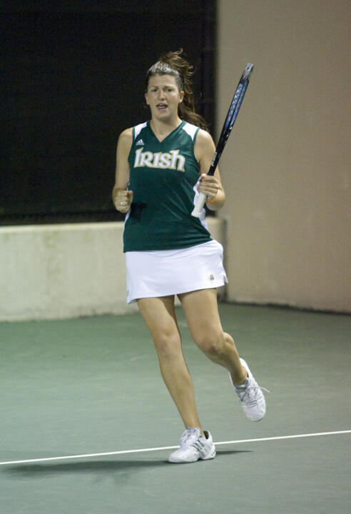 Senior Kali Krisik and the Irish will take on California Thursday in the NCAA Championship Round of 16.