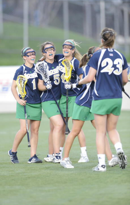 The Irish celebrate a goal at the 2009 BIG EAST Tournament.