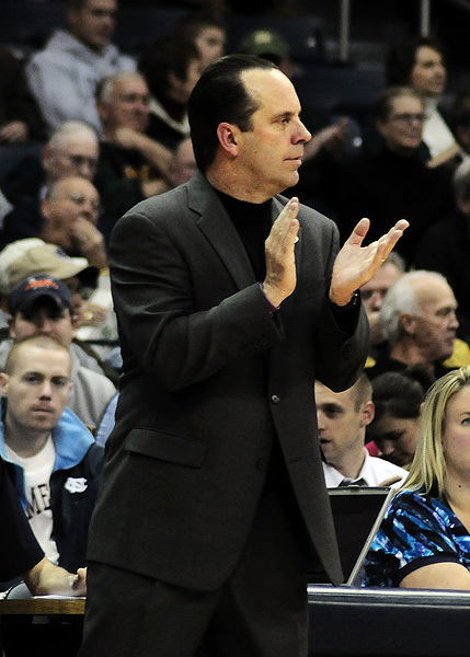 Head coach Mike Brey recently completed his 10th season on the Fighting Irish sidelines.
