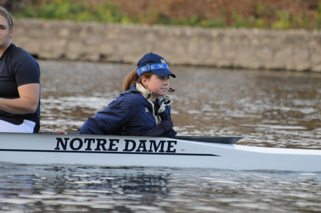 "Coxswain Alicia Elliott and the open four ""A"" boat earned the C final victory on Sunday for the Irish."