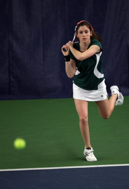 Sophomore Shannon Mathews clinched the win for the Irish with a victory at No. 2 singles.