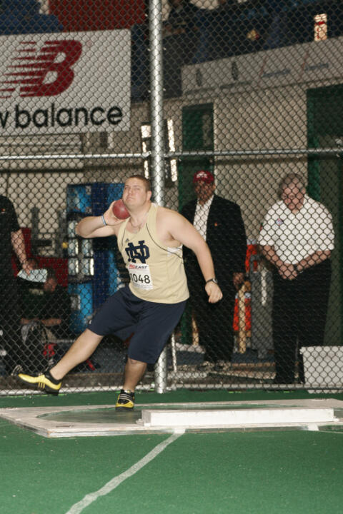 Denes Veres was steady for the Irish in the shot put Friday at the regional meet.