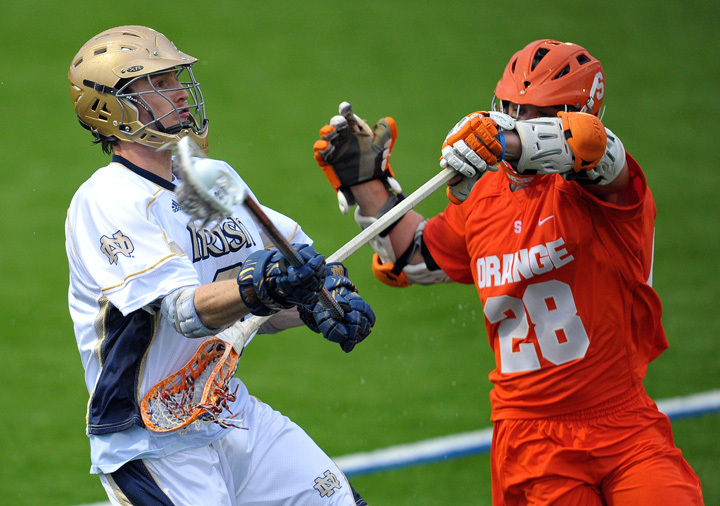 Mike Creighton and the Notre Dame defense held Syracuse scoreless for a stretch of 24:48, which began late in the first quarter.