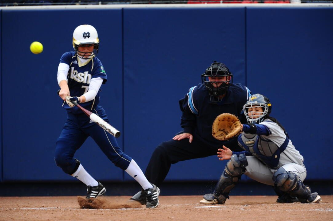 One of Notre Dame's three hits came off the bat of Sadie Pitzenberger versus No. 2 Michigan.
