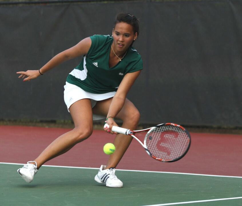 Sophomore Kristy Frilling advanced to the second round of the NCAA Singles Championships.