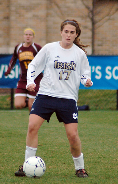 Junior midfielder and 2009 NSCAA first-team All-American Courtney Barg and her Fighting Irish teammates will kick off the 2010 season on Aug. 20 with a 5:30 p.m. (ET) match against Minnesota at Alumni Stadium.