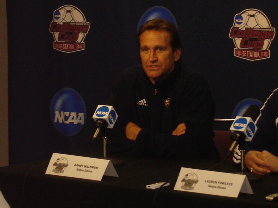 Head coach Randy Waldrum has led Notre Dame to seven NCAA College Cups, four NCAA title game appearances and the 2004 national championship during his first 11 seasons under the Golden Dome.