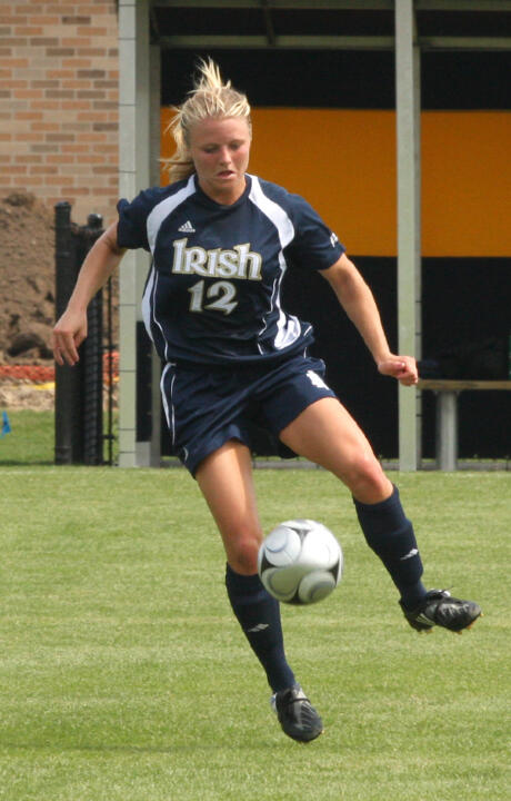For the second time in the opening three weeks of the 2010 season, junior defender/co-captain Jessica Schuveiller was named to the Top Drawer Soccer National Team of the Week, just one of many weekly honors collected by Fighting Irish players on Monday.