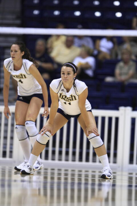 Notre Dame senior volleyball player Angela Puente kept very busy during the summer of 2010, studying abroad and then doing an internship towards her degree in aerospace engineering.