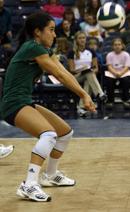 Junior libero Frenchy Silva had 13 digs for Notre Dame.